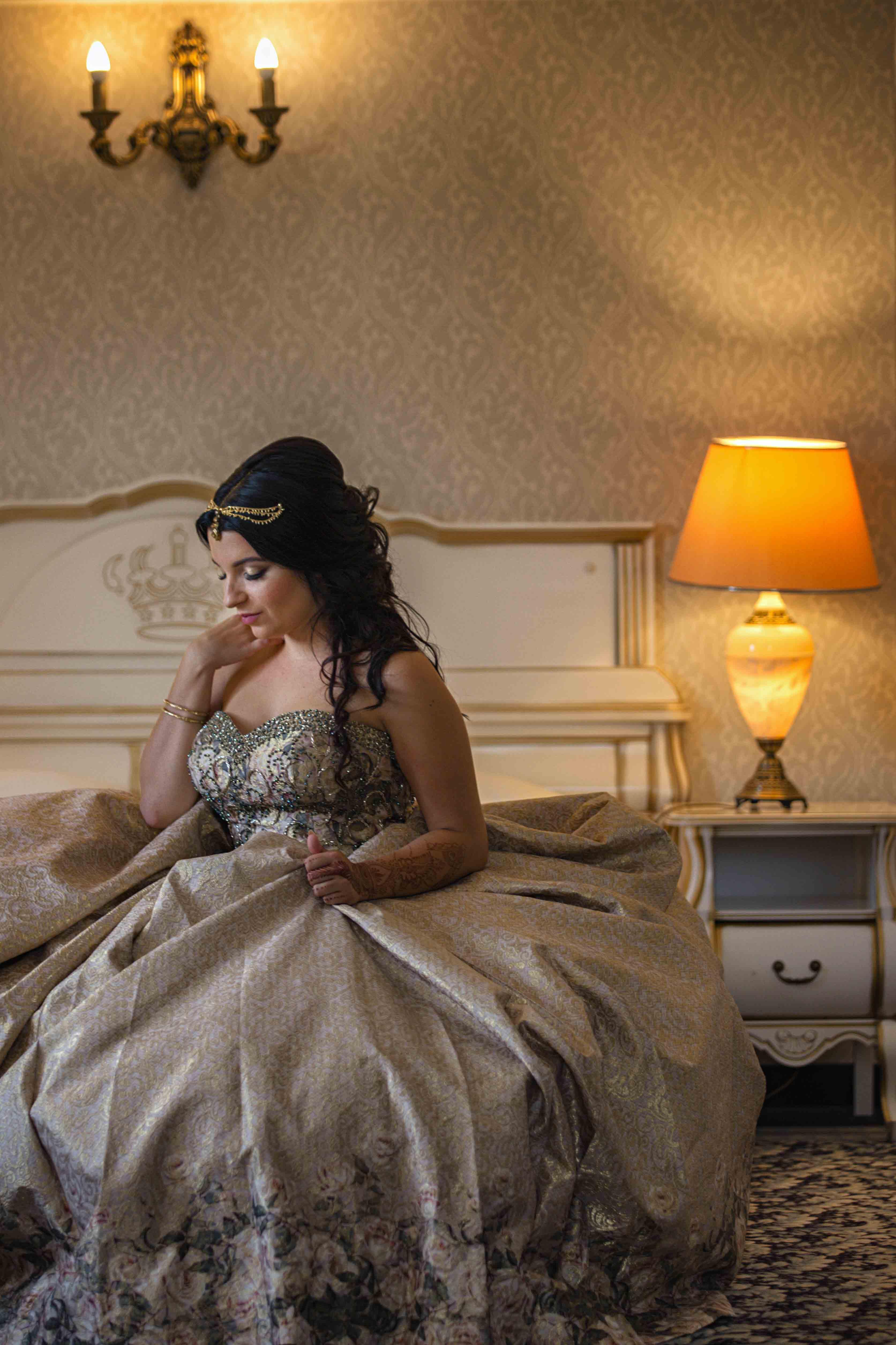 Sesja ślubna Magdaleny El Ghamari w Hotelu Windsor w Warszawie