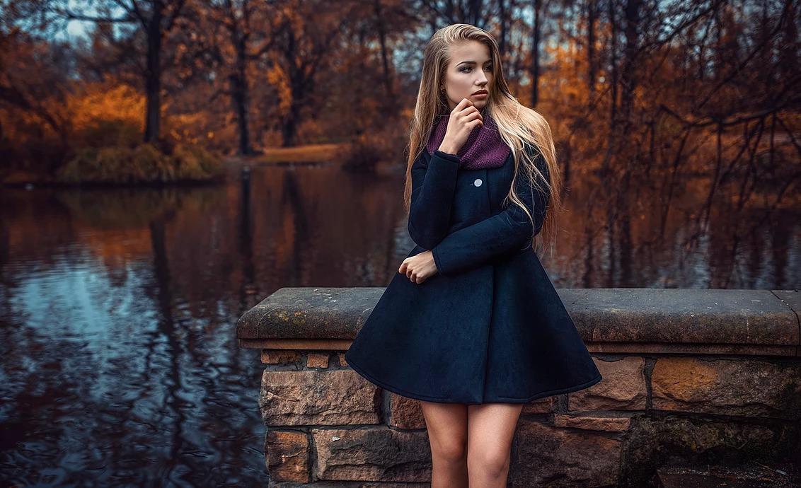 Portret kobiety w Parku Południowym we Wrocławiu