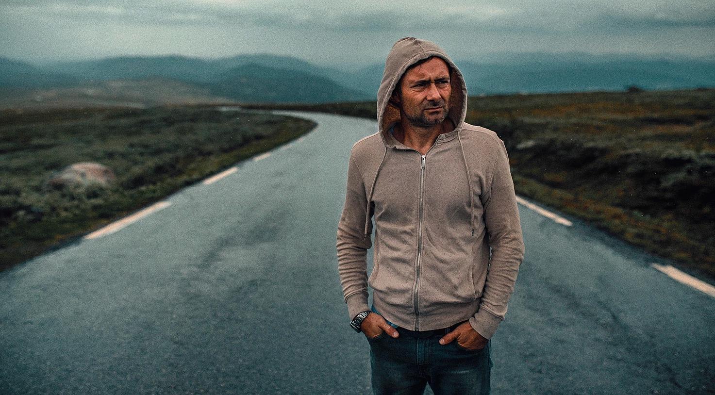 Portret mężczyzny w Norwegii, cinematic look